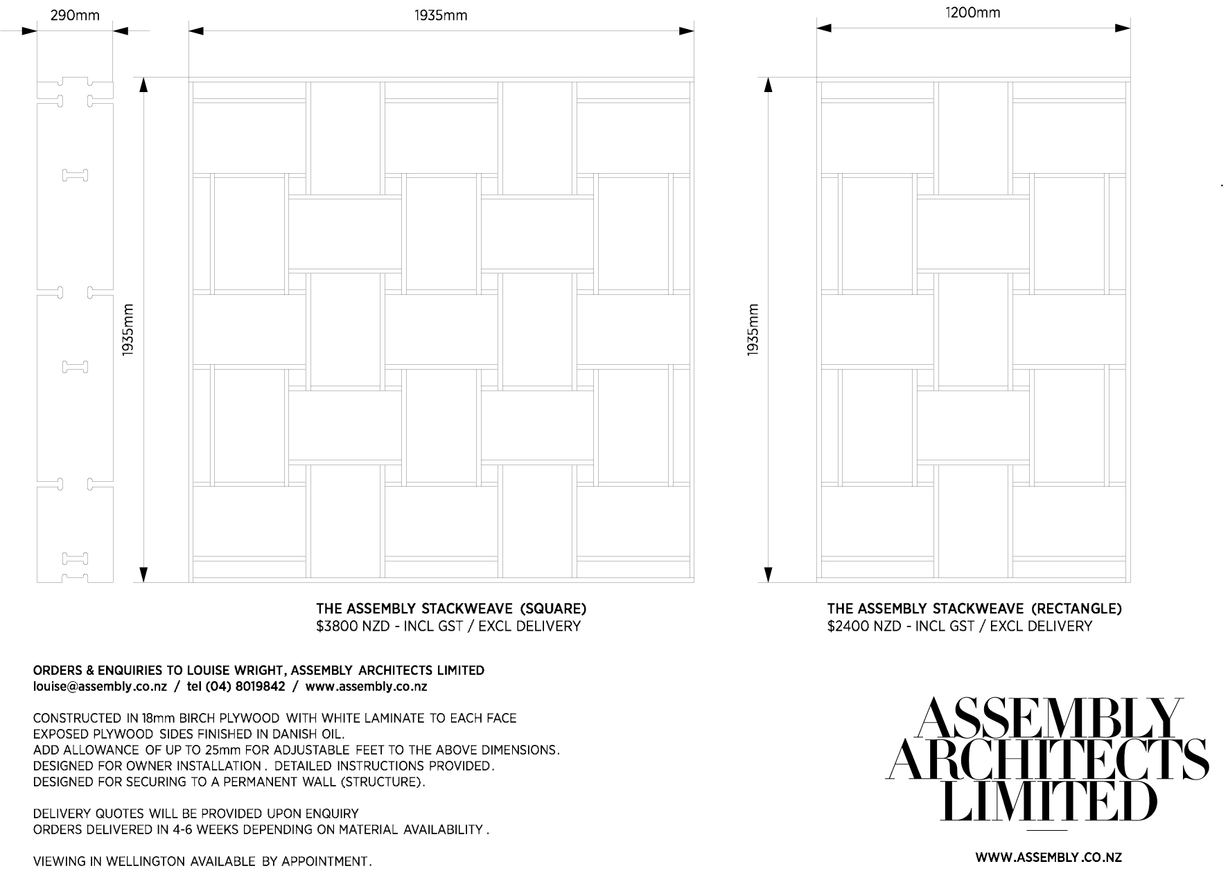 4 dimensions price assembly architects limited