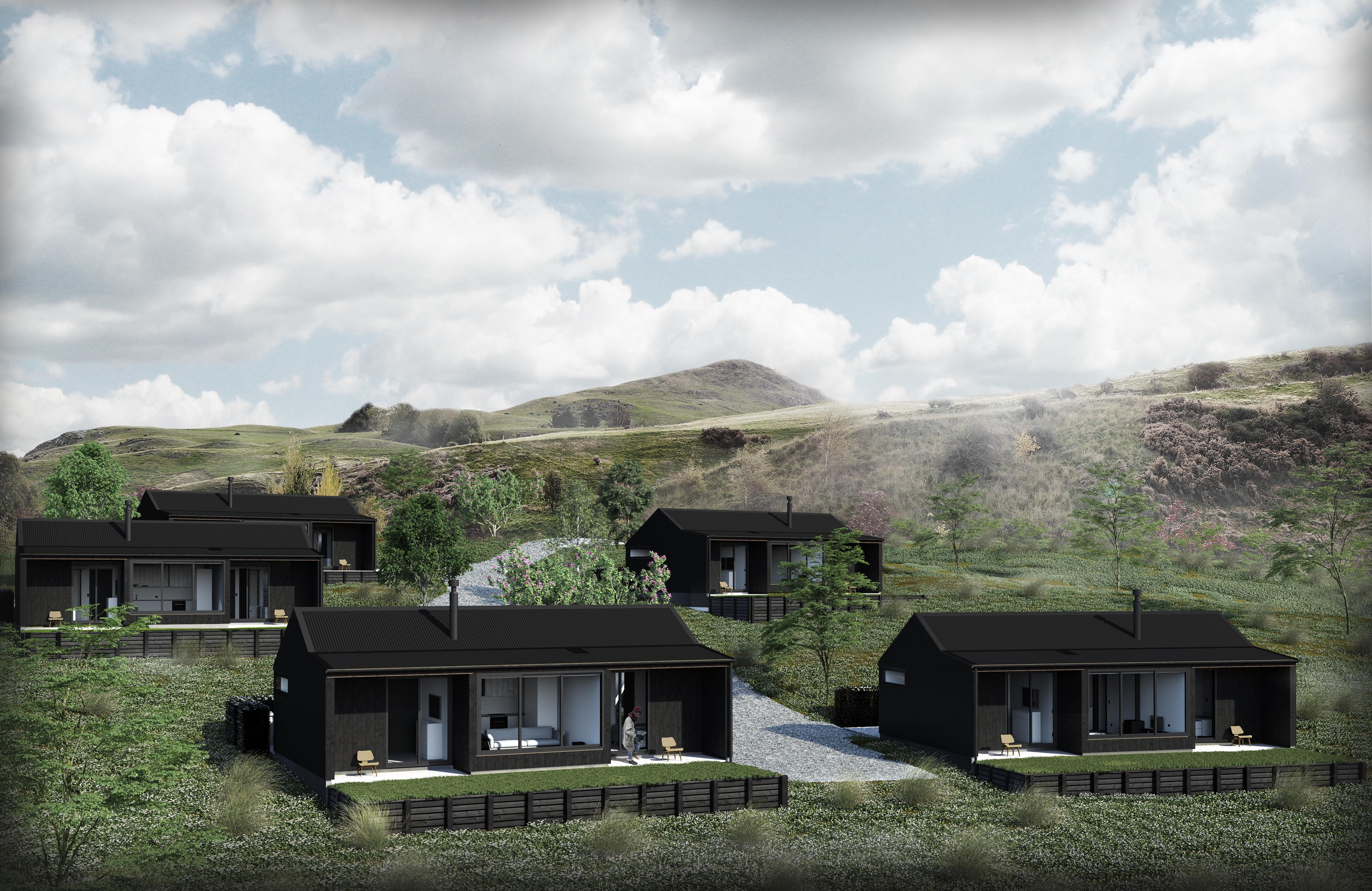 Lake Hayes Farm Cottages by Assembly Architects Arrowtown, Queenstown.  Unique rural accommodation in a historic lake side setting.